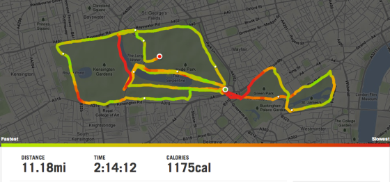 Running map Hyde Park