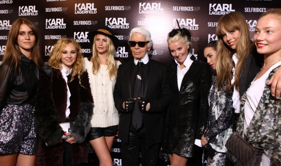 Karl Lagerfeld with his celebrity guestlist